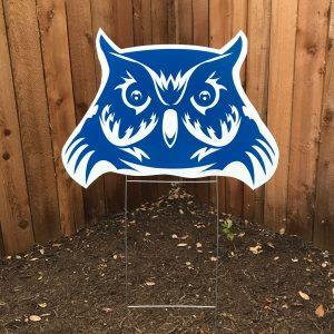Doss Owl Yard Sign